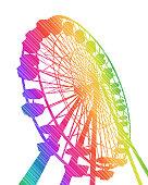Ferris Wheel Rainbow Stripes