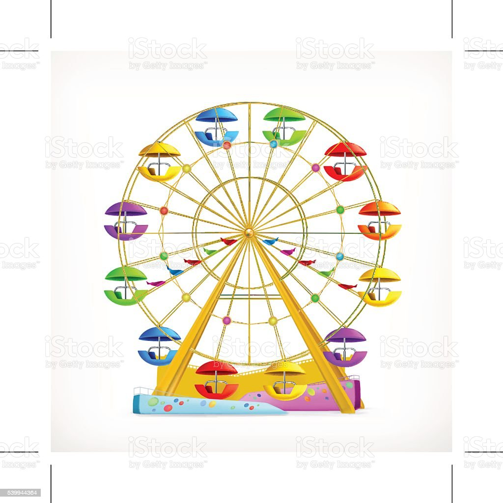 Ferris wheel, vector icon vector art illustration