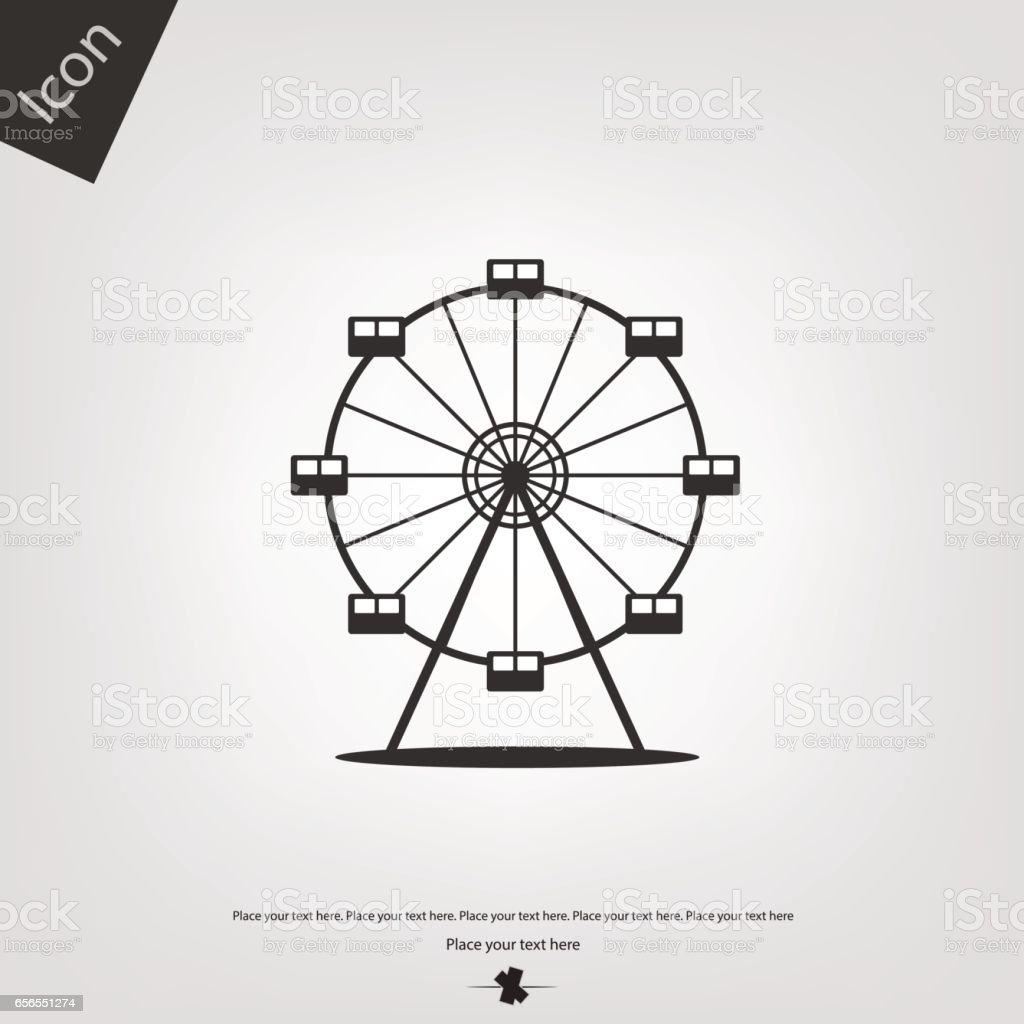 Ferris wheel vector icon vector art illustration