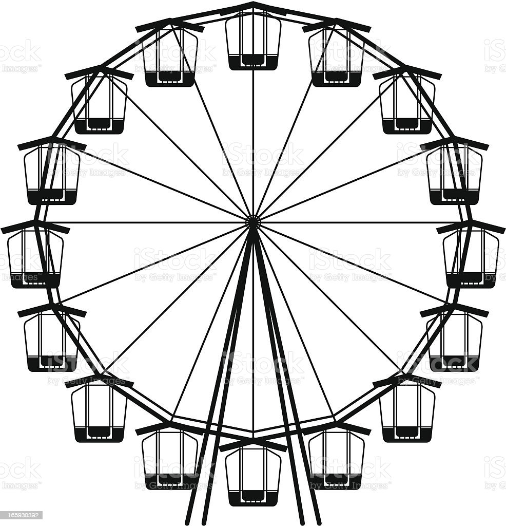 Royalty Free Ferris Wheel White Background Clip Art ...