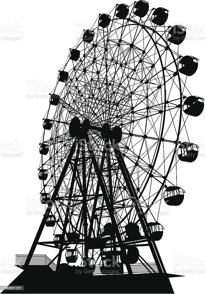 Ferris Wheel vector art illustration