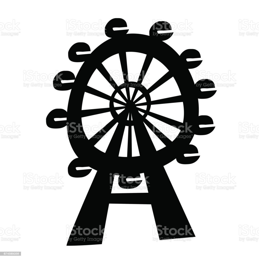 Ferris wheel stock vector art more images of cut out 674585056 ferris wheel royalty free ferris wheel stock vector art amp more images of cut biocorpaavc