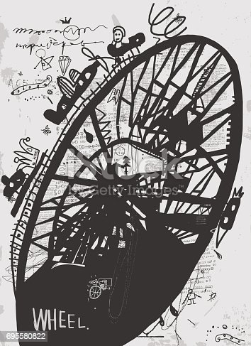The symbolic image of the construction, which is called the Ferris wheel