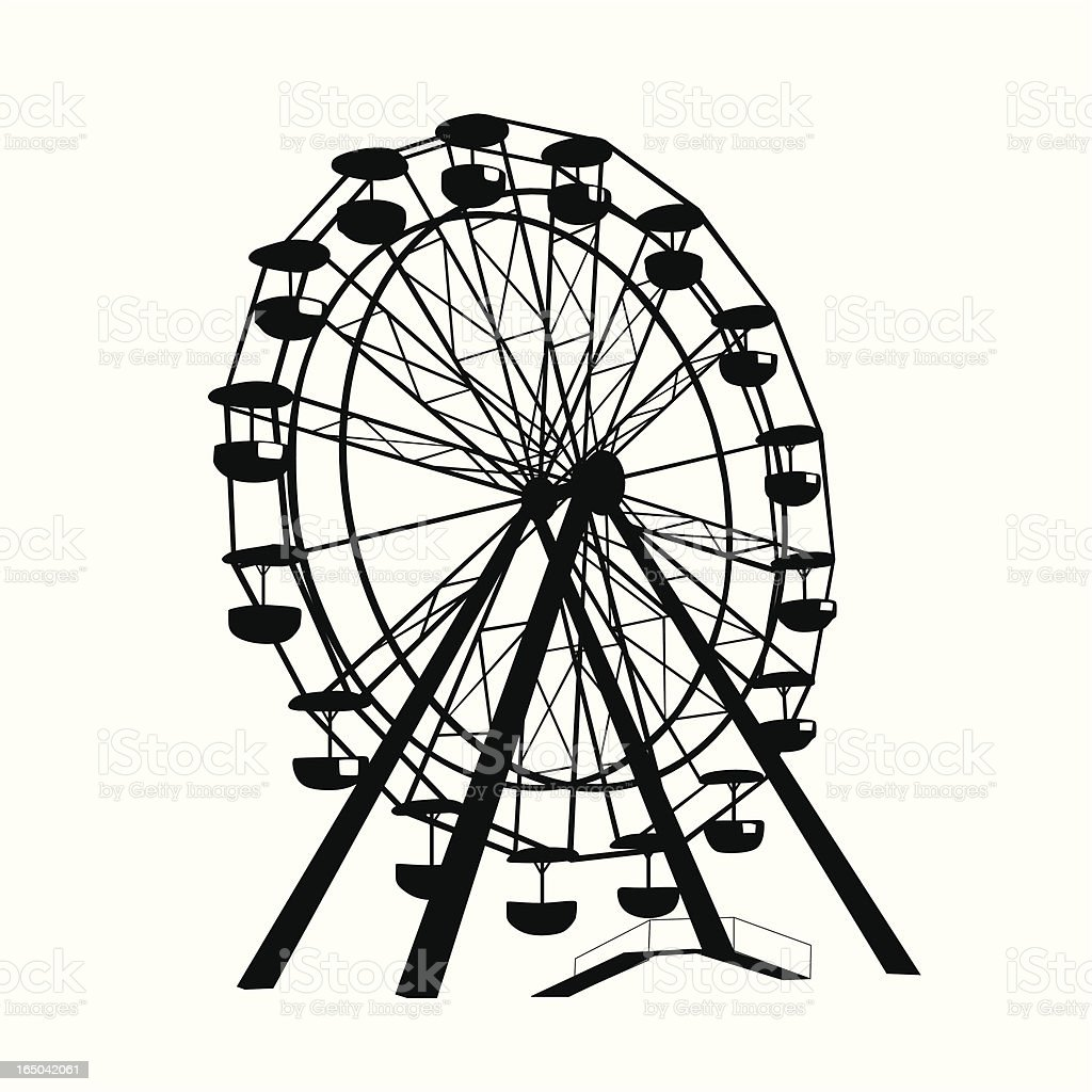 Ferris Wheel Vector Silhouette Stock Illustration Download Image Now Istock