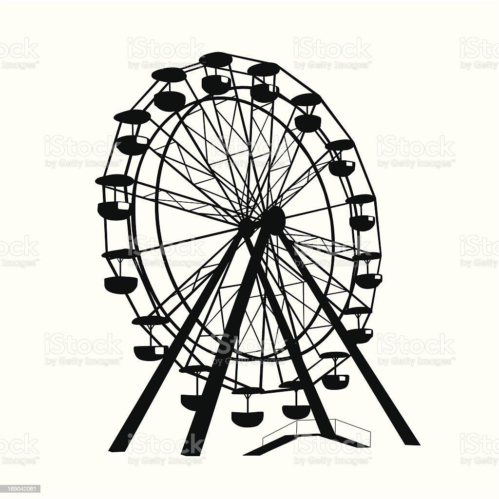 Ferris Wheel Vector Silhouette vector art illustration