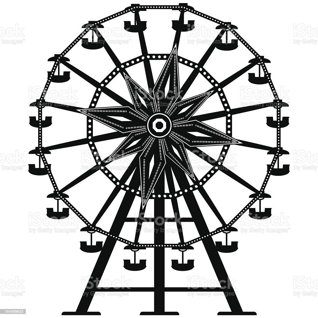 Ferris wheel vector royalty-free stock vector art