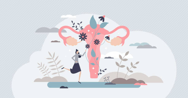 Fertility as medical reproduction healthcare and checkup tiny person concept vector art illustration