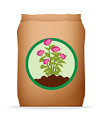 istock Fertilizer Bag Soil for Flowers and Plants. Isolated Clip Art Icon 1132485539