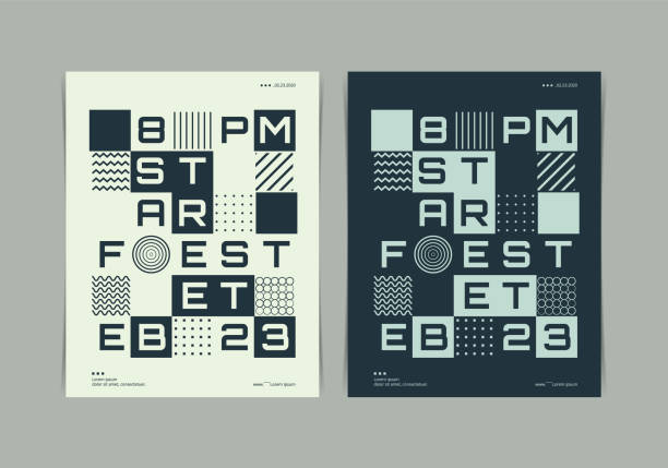 Fest poster Layout with Disjointed text Typography. Vector illustration. Fest poster Layout with Disjointed text Typography. Vector illustration. disjointed stock illustrations