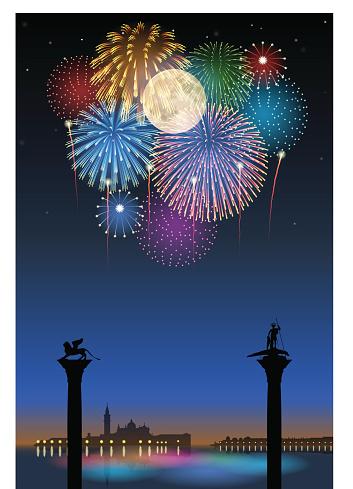 Festa del Redentore[Fireworks and full moon]