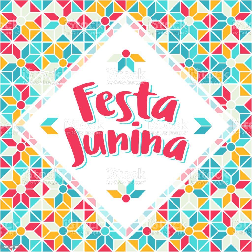 Festa Junina - Brazil Midsummer june fest vector art illustration