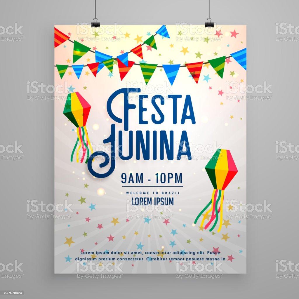 Ilustración de Festa Junina Celebración Fiesta Invitación Plantilla ...