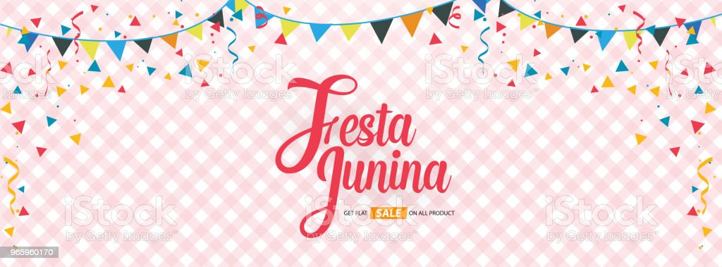festa junina cover background template design - Royalty-free 2018 arte vetorial