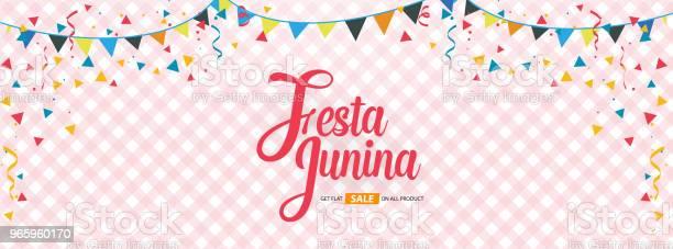 Festa Junina Cover Background Template Design - Arte vetorial de stock e mais imagens de 2018