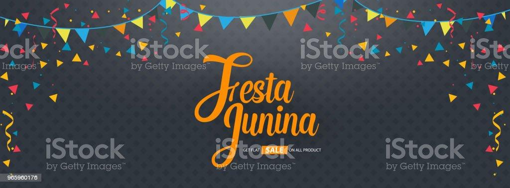 Festa Junina Coverdesign Hintergrund Vorlage - Lizenzfrei 2018 Vektorgrafik