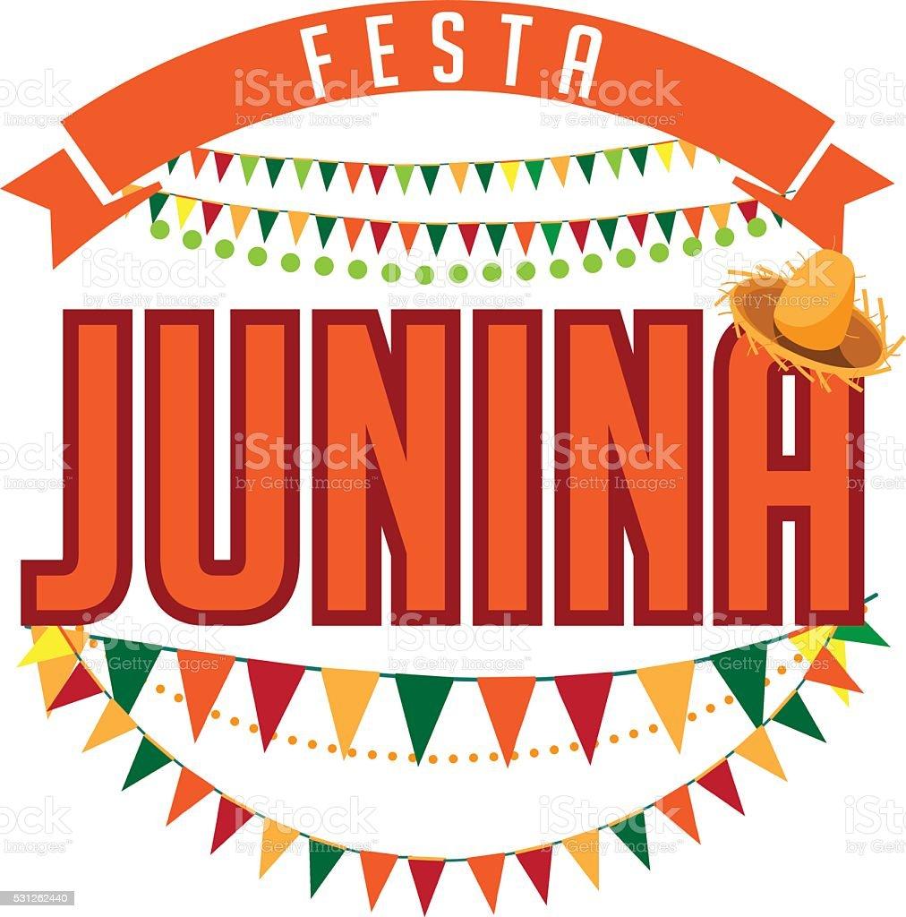 Festa Junina (June party) design. vector art illustration