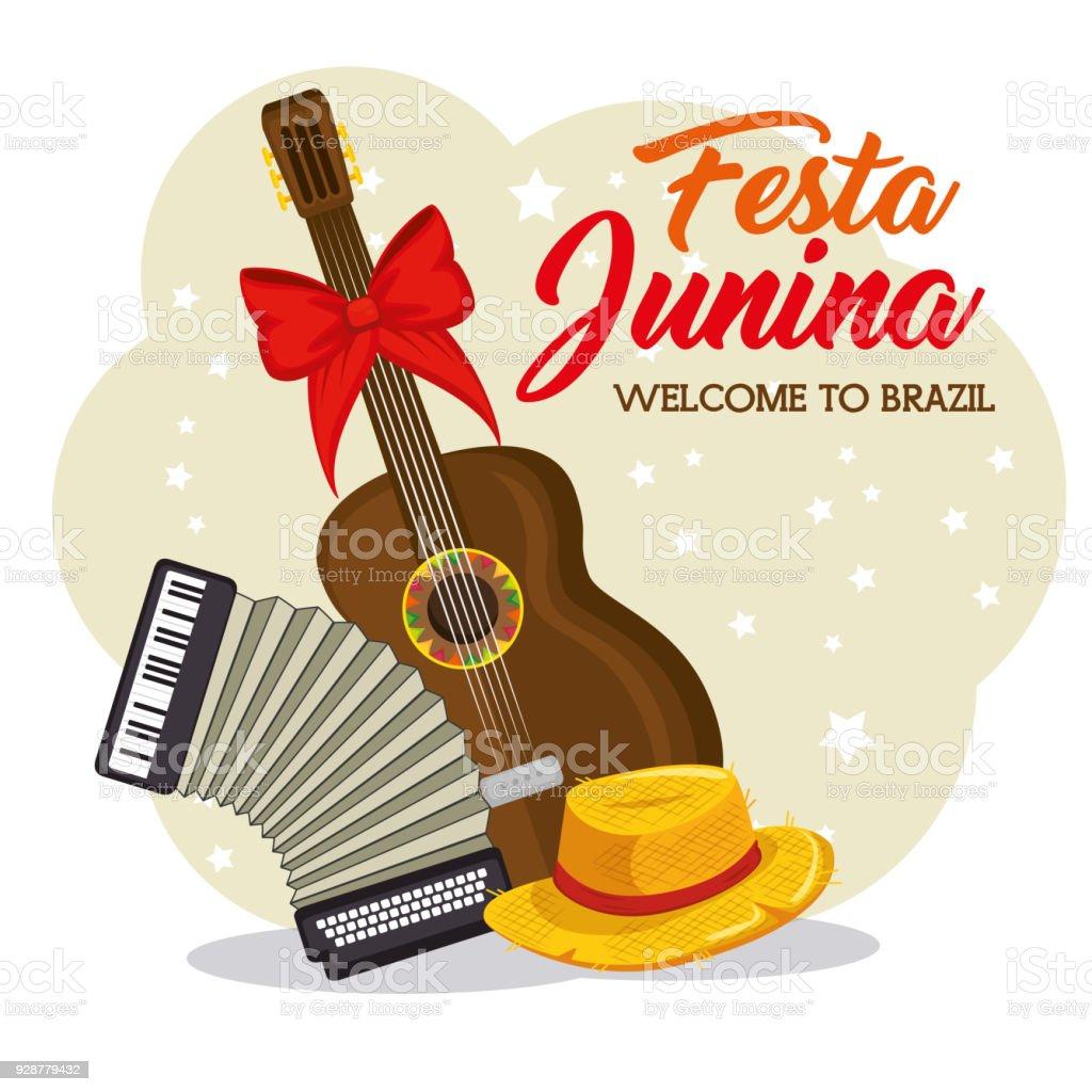 Festa junina diseño - ilustración de arte vectorial