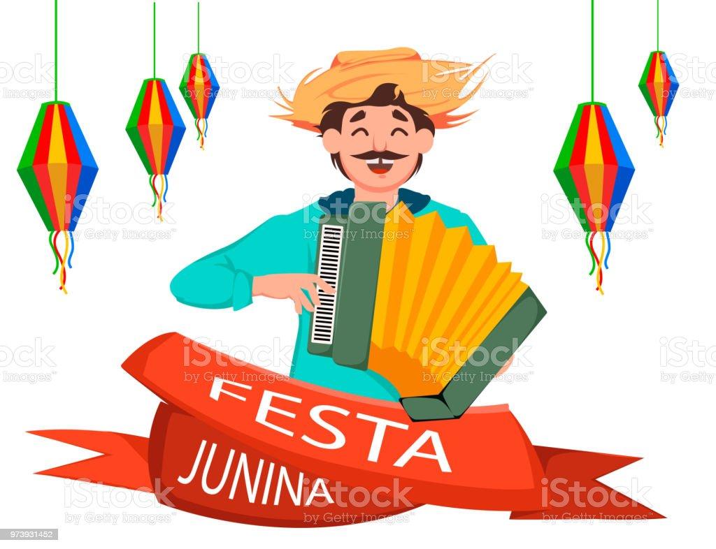 Festa junina greeting card stock vector art more images of festa junina greeting card royalty free festa junina greeting card stock vector art amp m4hsunfo