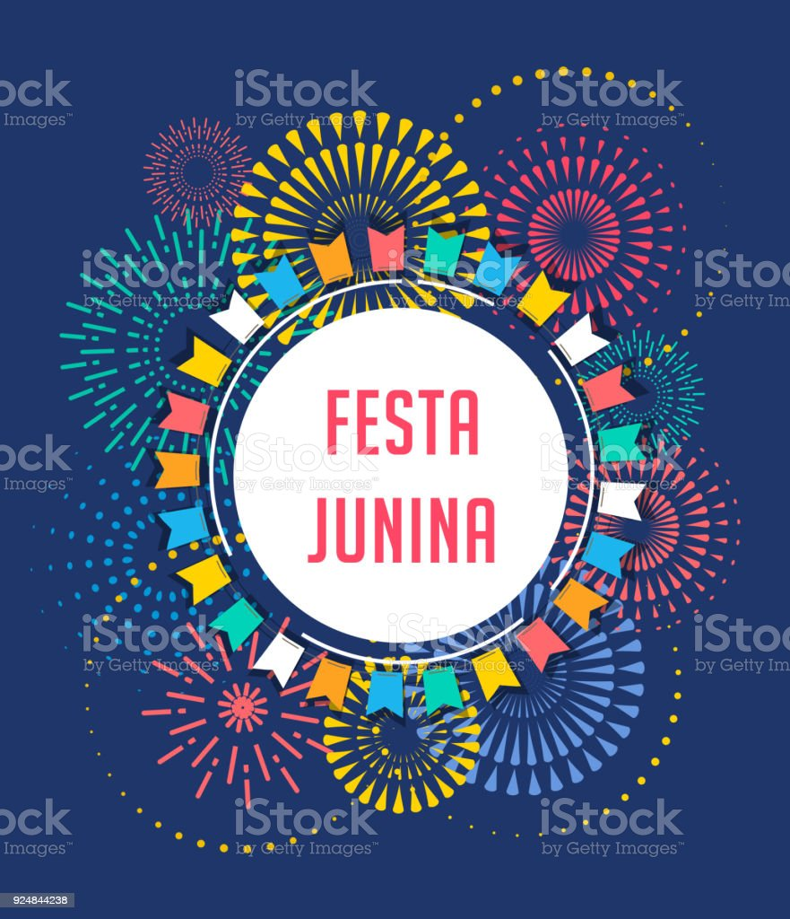 Festa Junina - Latin American, Brazilian June Festival vector art illustration
