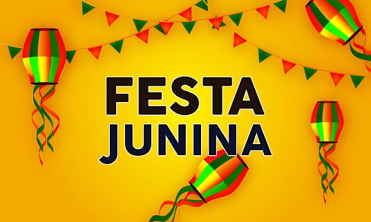Festa Junina Party Celebration Background stock illustration