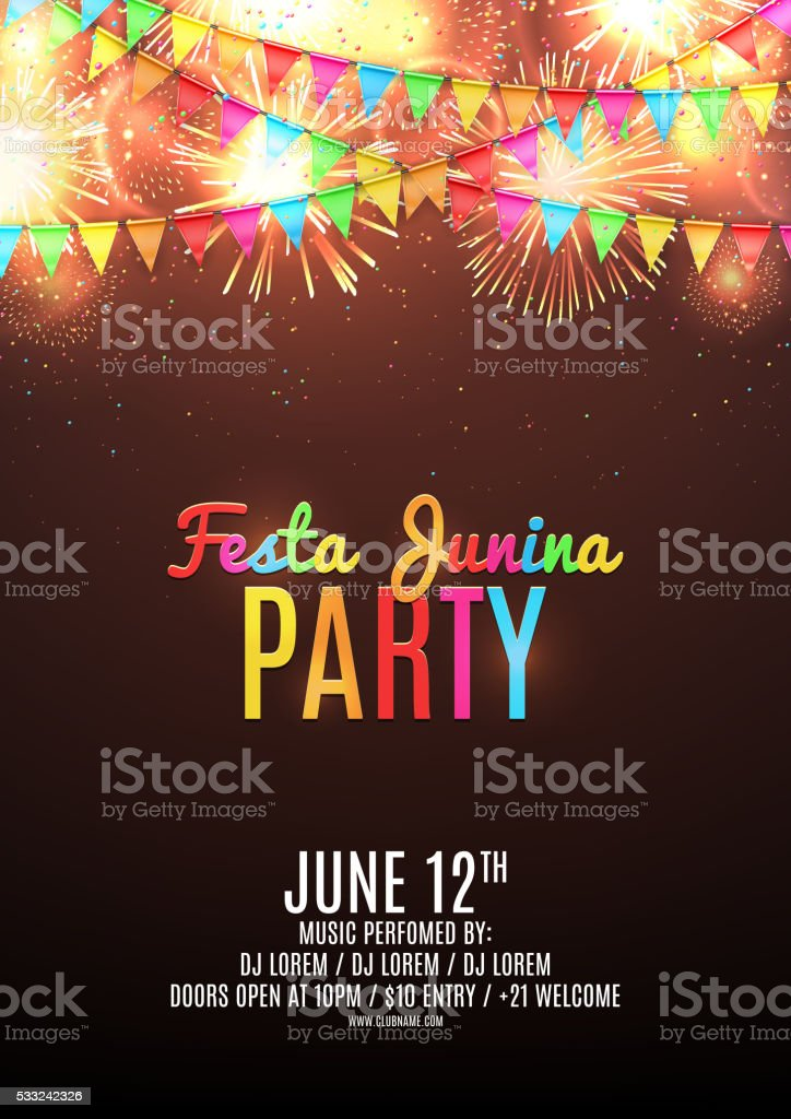 Festa junina sale poster royalty-free festa junina sale poster stock vector art & more images of arts culture and entertainment
