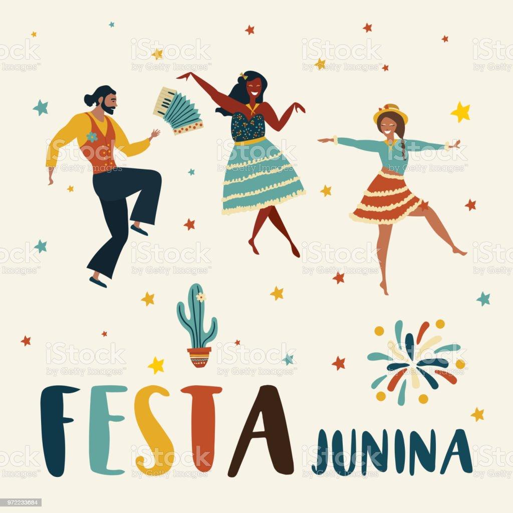 Ilustración de Fiestas Juninas y más Vectores Libres de Derechos ...