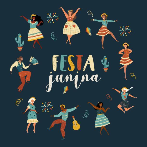 bildbanksillustrationer, clip art samt tecknat material och ikoner med festa junina - latino music