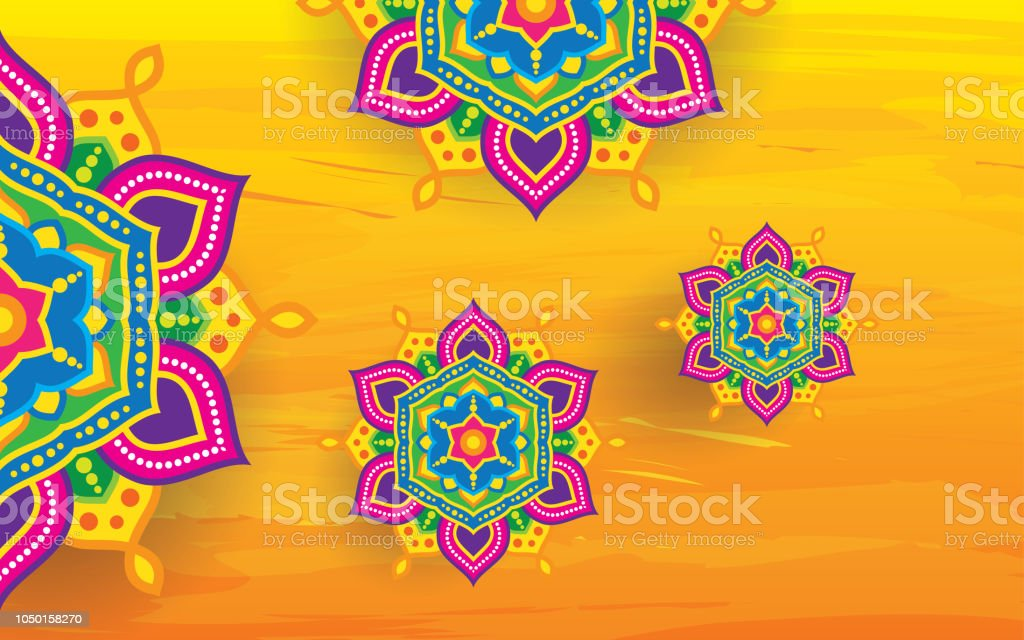 Festival Background Template with Floral Ornament vector art illustration