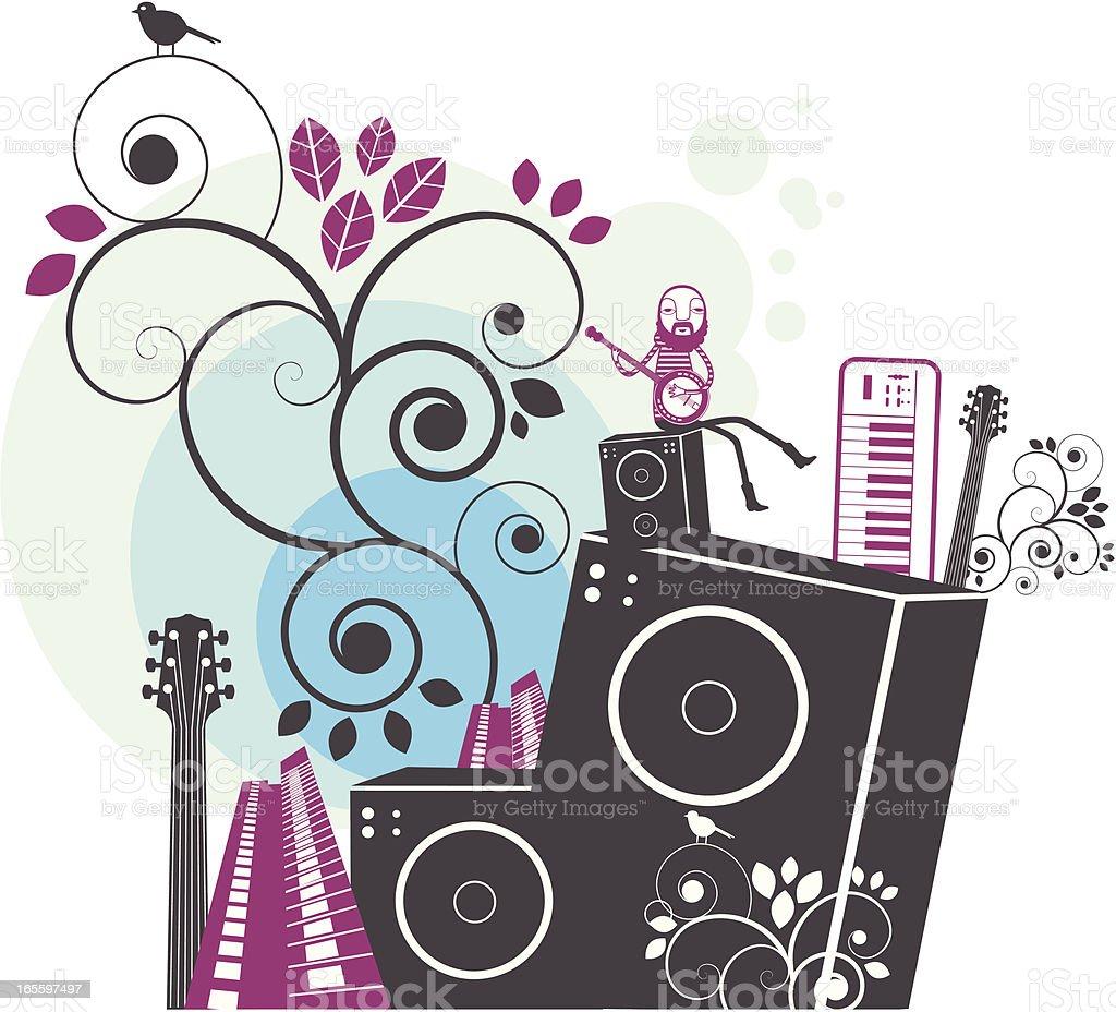 Festival de la ciudad ilustración de festival de la ciudad y más banco de imágenes de abstracto libre de derechos