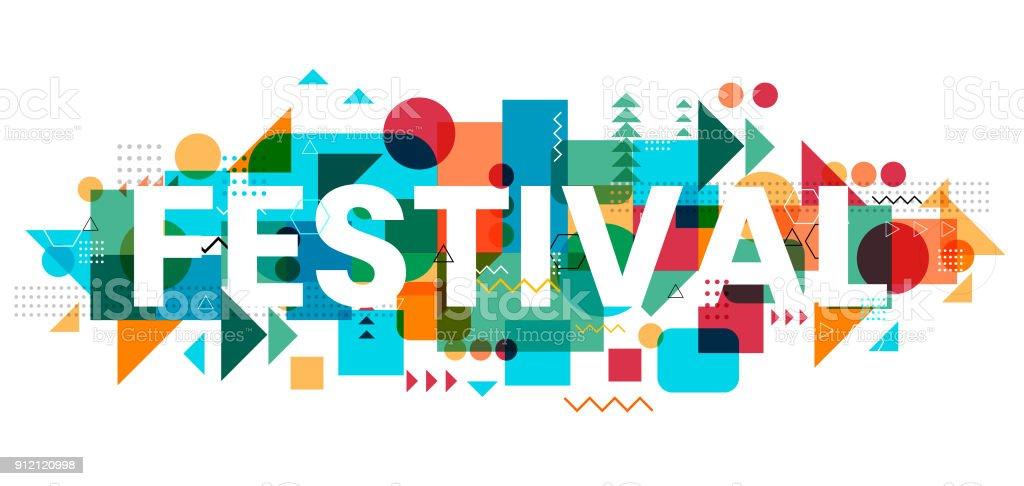 Festival Design vector art illustration