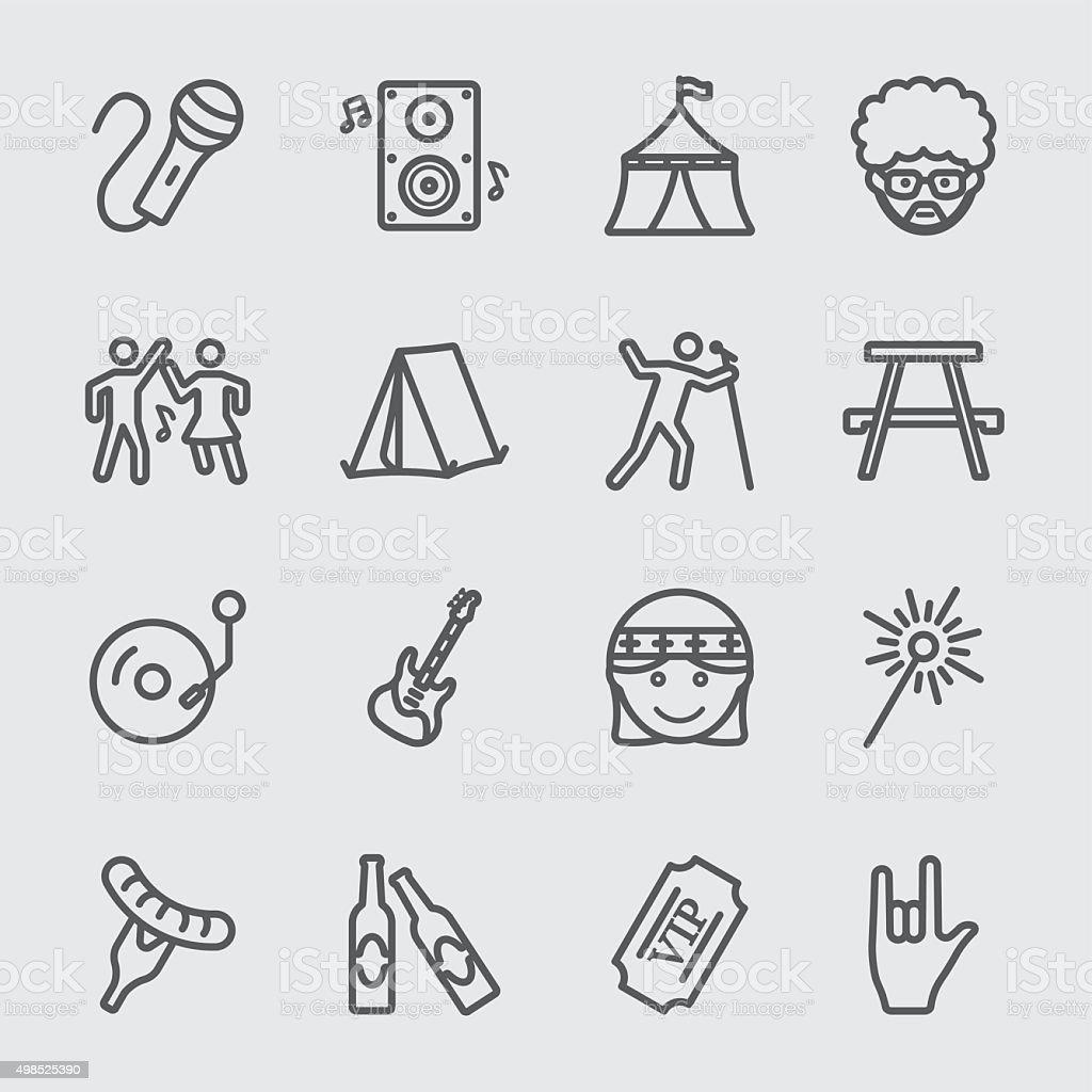 Festival de icono - ilustración de arte vectorial