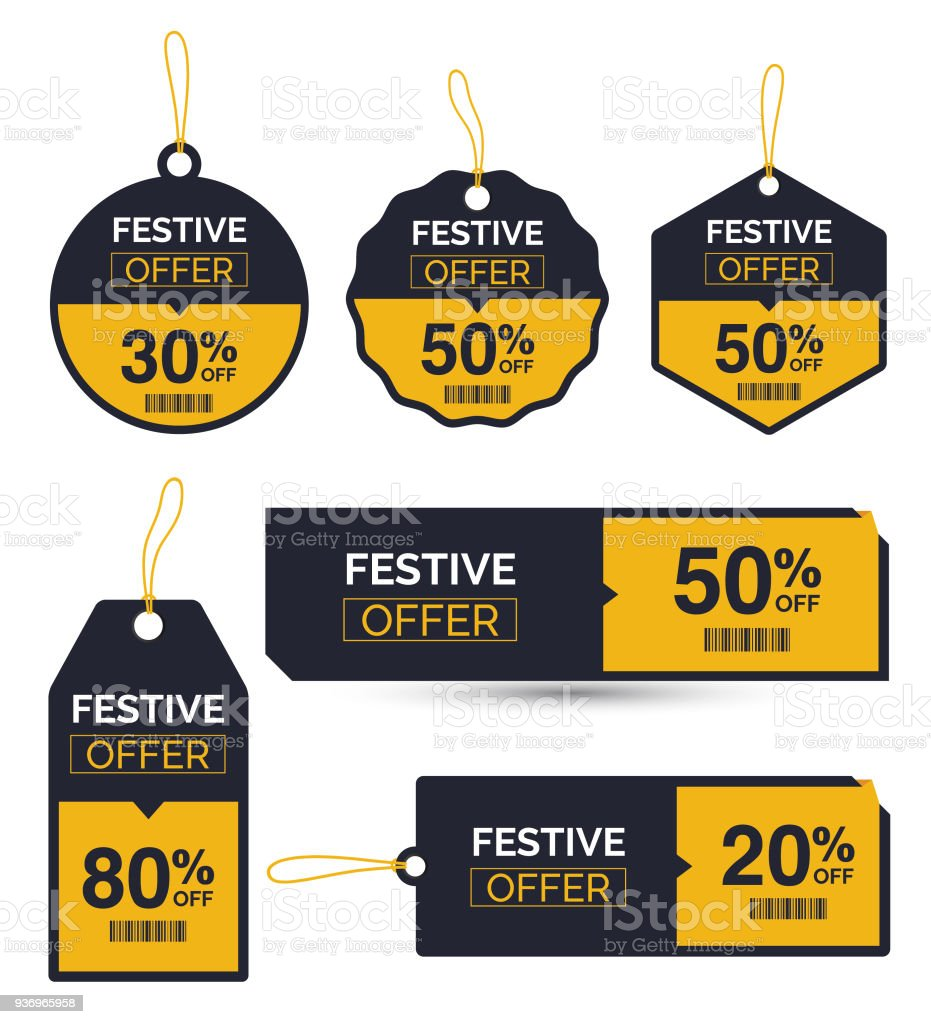 Festival Offer Discount Sticker Stock Vector Art More Images Of