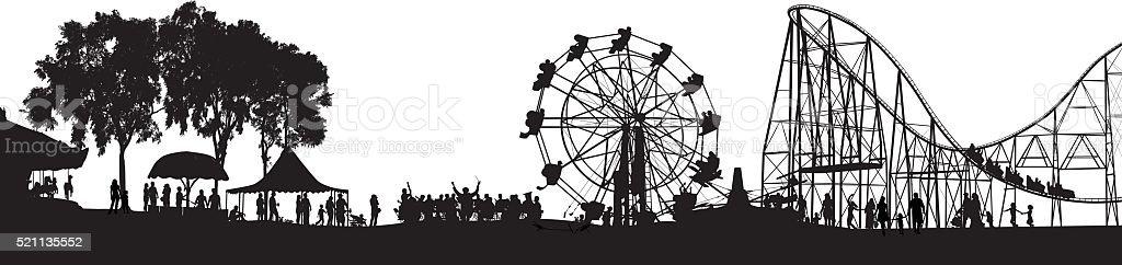 Festival Orchestra vector art illustration