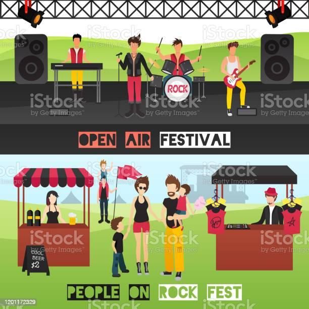 Festival Ut Banners-vektorgrafik och fler bilder på 1970-1979