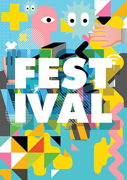 bildbanksillustrationer, clip art samt tecknat material och ikoner med festival poster design - traditionell festival
