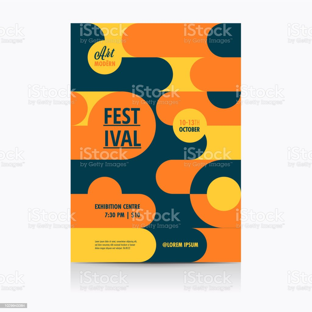 Festival Poster Layout with geometric Shapes. Vector illustration. royalty-free festival poster layout with geometric shapes vector illustration stock illustration - download image now