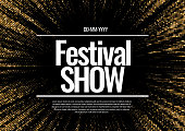 Festival show Poster. Poster Template for Concert, Party, Theater. Vector illustration