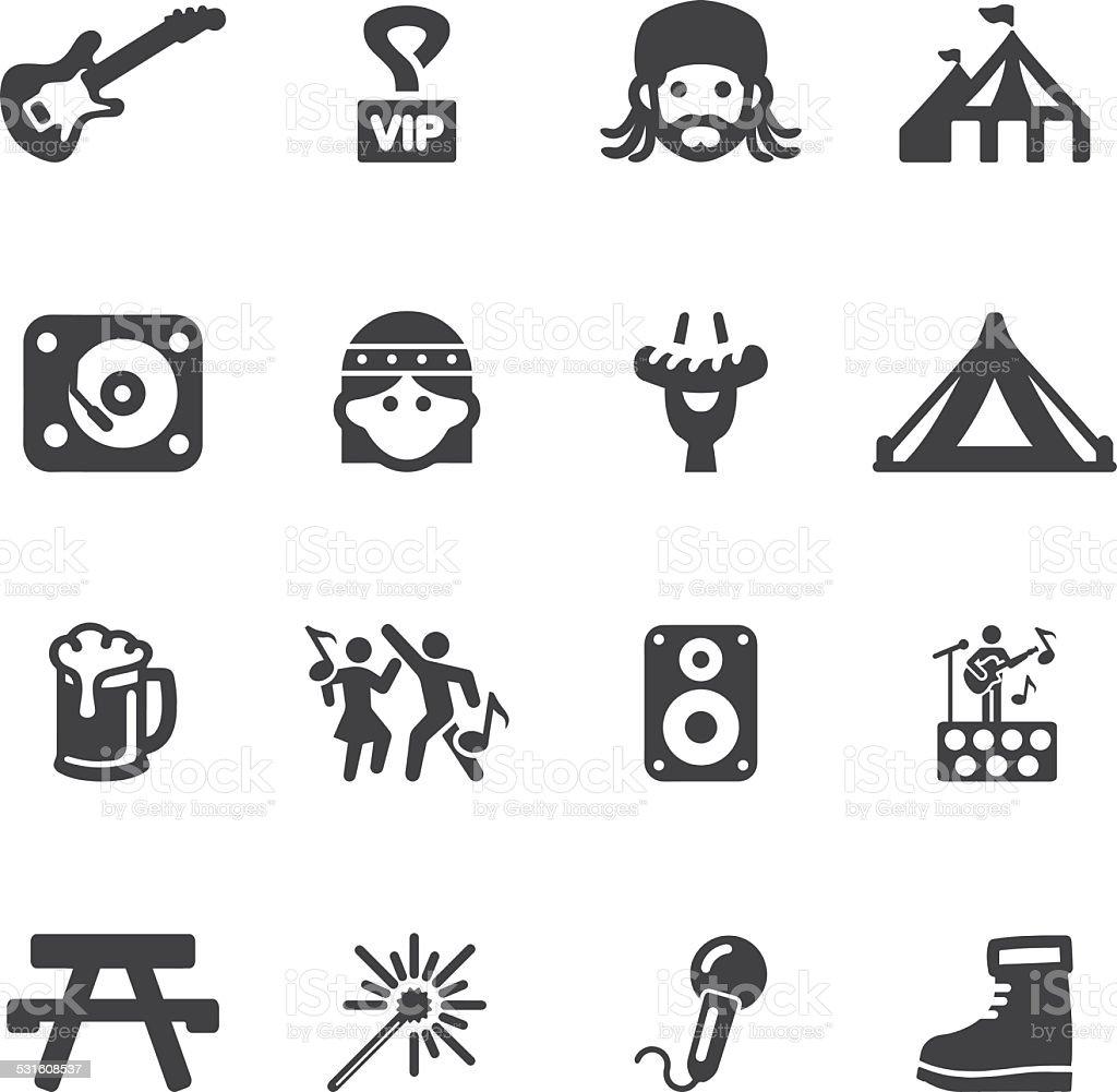 Festival Silhouette icons | EPS10 vector art illustration
