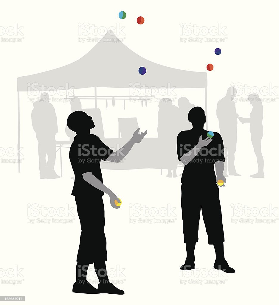 Festival Vector Silhouette royalty-free stock vector art