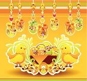 Festive Arrangement with Easter basket