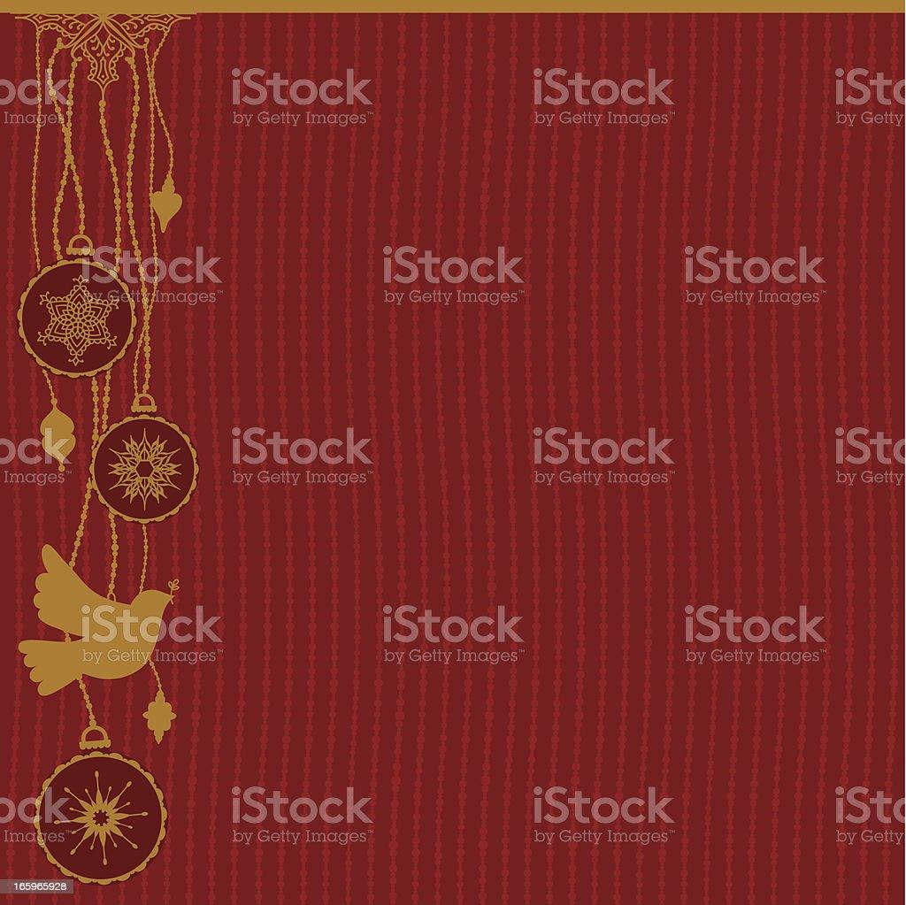 Festive Background Dove vector art illustration