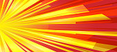 Festive background of bright colorful speed lines. Effect motion lines for comic book and manga. Sunbeams with effect explosion. Template for web and print design. Vector
