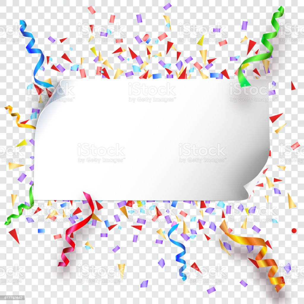 Festive background on transparent vector art illustration