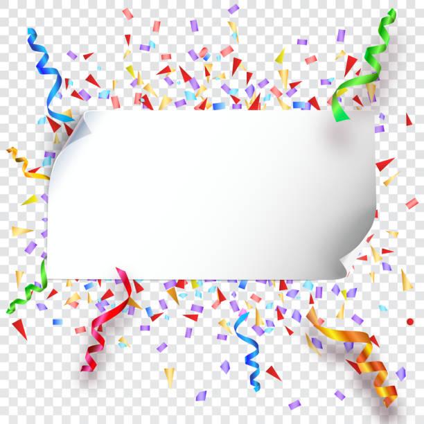 Festive background on transparent vector art illustration