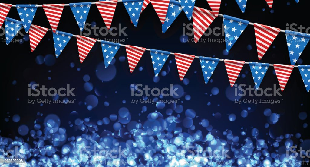 Festive background with American flags. royalty-free festive background with american flags stock vector art & more images of american culture
