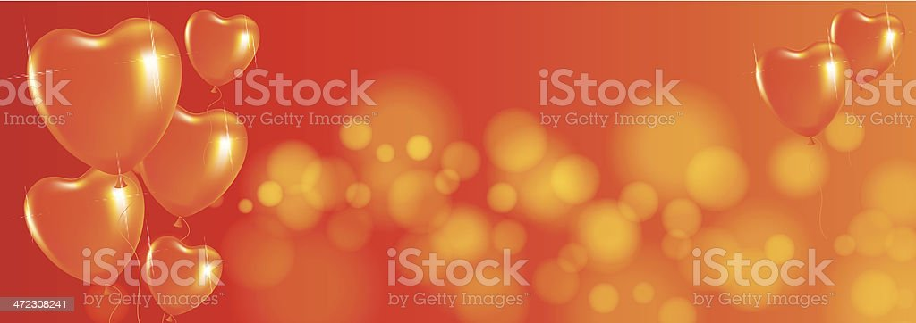 Festive background with balloons vector art illustration