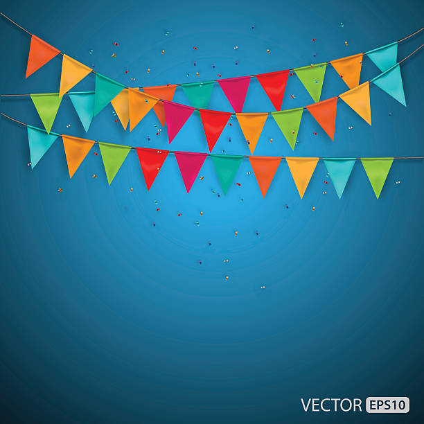 Festive background with flags,vector Festive background with flags,vector political party stock illustrations