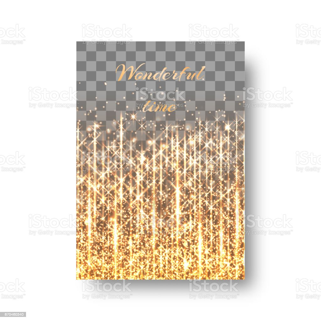 Festive background with golden sprays vector art illustration