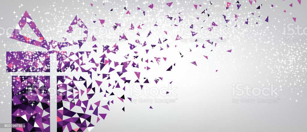 Festive background with purple gift 622299732 istock festive background with purple gift negle Images