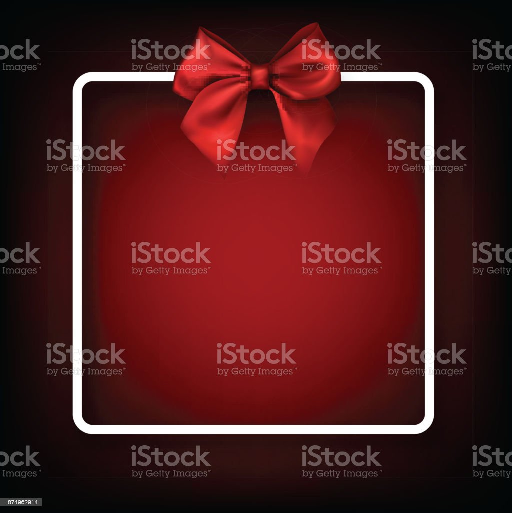 Festive background with red bow. vector art illustration